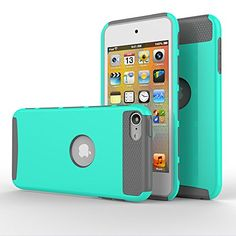 iPod touch 5 Case,iPod touch 6 Case, MOOST(TM) 2-Piece Style Hybrid Shockproof Hard Case Cover for Apple iPod touch 5 6th Generation (Aqua Mint / Grey)