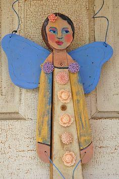 Folk Art Angel by danapereabloede on Etsy
