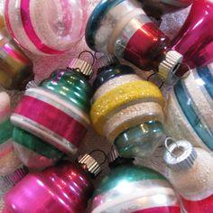 Stripey Christmas Balls
