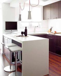 101b3bdb11e9 cocina L Cocinas Esquina, Salas Y Cocinas, Cocinas Pequeñas Con Barra,  Cocina Comedor