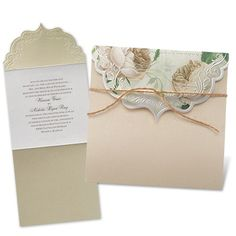 Rose Garden Wedding Invitation by David's Bridal #romanticweddings
