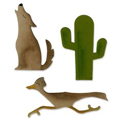 Coyote Silhouette Cut Out