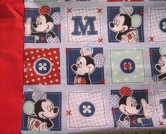 Mickey Mouse I only have fabric for 3 of these MINI Pillowcase kidstr | MadeAtNanas - Housewares on ArtFire