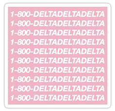 Tridelt stickers featuring millions of original designs created by independent artists. Delta Sorority, Alpha Sigma Alpha, Delta Gamma, Sorority Life, Kappa, Sorority Recruitment Decorations, Sorority Crafts, Big Little Basket, Big Little Week