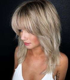 Hairstyles With Bangs .Hairstyles With Bangs Medium Hair Cuts, Medium Hair Styles, Short Hair Styles, Long Shag Haircut, Hair Color And Cut, Layered Hair, Great Hair, Hair Dos, Hair Lengths