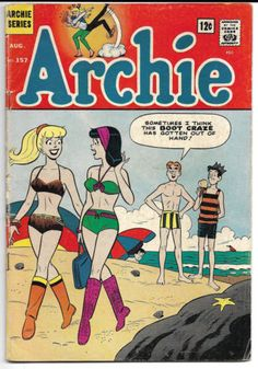 Archie-157-1965-Betty-Veronica-swimsuit-cover