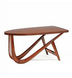 Pierre Jeanneret; Teak Occasional Table, 1950s.