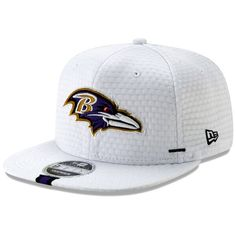 buy popular f8b51 f6b55 Men s Baltimore Ravens New Era White 2019 NFL Training Camp Original Fit  9FIFTY Adjustable Snapback Hat
