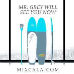 < Mr. Grey Will See You Now at MIXCALA.COM >  50 Shades of Grey movie came out last night. Did everyone get a chance to go see it? Hope you guy like it.   MixCaLa 12' Piedra painted in a slate gray, pale blue duotone and finished with a glass-like varnish. If you like 50 shades of Grey you should check out MixCaLa shade of Grey from MIXCALA.COM Colorful Bamboo SUP Paddleboard only at MixCaLa. What's your shade of Grey?