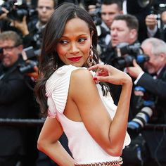 Star Tracks: Wednesday, May 14, 2014 | BACK ATCHA' | You lookin' at me? Zoë Saldana has one gorgeous gaze on Wednesday while arriving to the opening ceremony of the Cannes Film Festival in the South of France.
