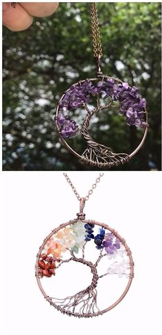 Tree Of Life Pendant Necklace. Crystal Natural Stone . Necklace Women. Christmas Gift