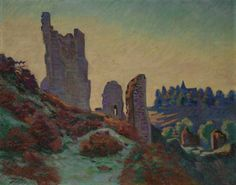 """""""Ruins Of The Castle At Crozant,"""" Armand Guillaumin, 1898"""