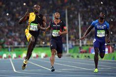 Jamaica s Usain Bolt Wins 3rd Consecutive 100M Olympic Gold in Rio Justin  Gatlin 639e45490