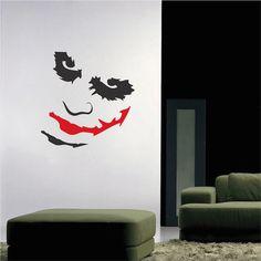 Joker Decal Sticker Mural - Batman Jocker Wall Murals - Joker Self Adhesive Decals - Joker Wall Art Designs - Trendy Wall Designs
