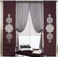 Brillant Home Art Of Curtain koleksiyonu, yeni sezon koyu renk panel perde, stor perde ve koyu tül perde seti modeli   Kadınca Fikir