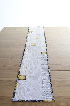 New Every Morning Patchwork & Quilting: Patchwork Table Runner in  Neutral Shades with Wood Grain Quilting £38.00