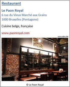Restaurant Le Paon Royal - 6 rue du Vieux Marché aux Grains - Pentagone