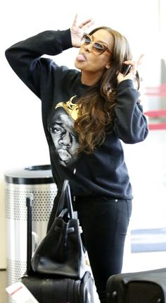 Steal: Lala Anthony's LAX Airport Biggie King of NYC Sweatshirt