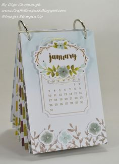 "Paper Pumpkin One Great Year Calendar - December 2015 kit. Used 1"" binding rings."