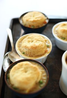 1-Hour Vegan Pot Pies! Topped with flaky, from scratch vegan biscuits #minimalistbaker
