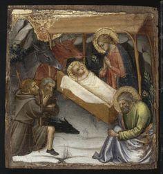 Natività e adorazione dei pastori - tempera su tavola di pioppo (ca.1395) - Mariotto di Nardo - Musée du Petit Palais, Avignon