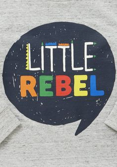 Clothing at Tesco | F&F Little Rebel Slogan Long Sleeve T-Shirt > tops > 2 for £5 Younger Boys' T-Shirts > Kids