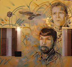 Paris - C215 - Kirk et Spock | Flickr - Photo Sharing!