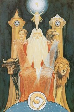 The Ancient of the Ancients, by J. Augustus Knapp for The Secret Teachings of All Ages by Manly P. Hall
