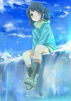 nagi no asukara miuna - Google'da Ara Anime Guys With Glasses, Sitting Girl, Art Anime, Anime Artwork, Anime Chibi, Anime Girls, Kawaii Anime Girl, Manga Girl, Awesome Anime