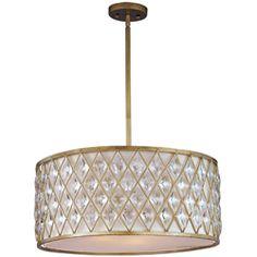 """24""""W x 12"""" H canopy Where put? Diamond 4-Light Pendant"""