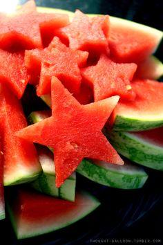 Watermelon stars! #food #idea #crative