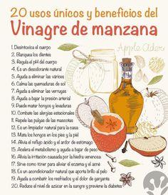 El vinagre de manzana es uno de los remedios caseros más antiguos. Conoce cada…: