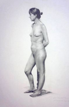 2 week pose, Graphite on Canson