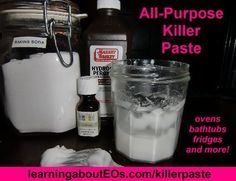 All-Purpose Killer Paste & Oven Scrub (Photo Tutorial) | Learning About EOs - Using Essential Oils Safely