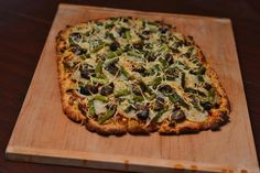 """This """"grown up"""" Herb Scented Potato, Asparagus, and Smoked Oyster Pizza is outstanding! Pizza Recipes, Lunch Recipes, Seafood Recipes, Yummy Recipes, Veggie Dishes, Vegetable Recipes, Pizza Lasagna, Bread Pizza, Smoked Oysters"""