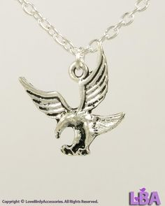 LBA: Animal Lover - NEW Antique Silver Plated FLYING EAGLE Bird Pendant Necklace #LoveBirdyAccessoriesLBA #Pendant