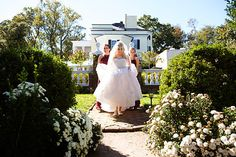 Oatlands Historic House & Gardens- here comes the bride! final walk as a single woman; off to the garden ceremony; October and flowers still blooming; Photo by Traci J. Brooks Studios