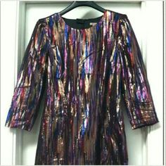 H&M Multi-Colored Metallic Dress
