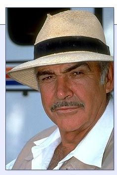 connery panama hat You know panama hats are awesome when Sean Connery is wearing one!)You know panama hats are awesome when Sean Connery is wearing one! Sean Connery, Steve Mcqueen, Marlon Brando, Brad Pitt, Kevin Costner, Richard Gere, Anthony Hopkins, Harrison Ford, Moustaches