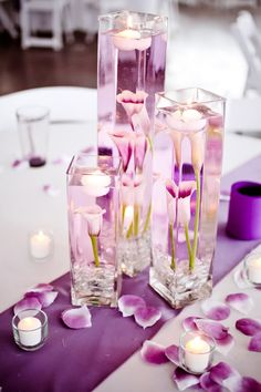 Really like these as #centerpieces ... LOVE the photographer who took the photo. (You're the best @Trisha Jacoby Seelen!)