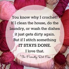 Funny Crochet Memes – Der freundliche Rotfuchs - Secrets of being well-groomed Knitting Quotes, Knitting Humor, Crochet Humor, Knitting Yarn, Funny Crochet, Knitting Needles, Knitting Ideas, Crochet Crafts, Crochet Yarn