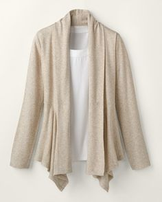 Love this knit jacket from Coldwater Creek!!