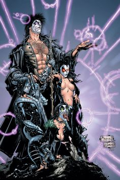 Clayton Crain is an American digital comic book artist, best known for his work with Marvel on X-Force, Carnage and Ghost Rider. His drawing style is regarded as being quite unique. Heavy Metal Comic, Heavy Metal Art, Rock Band Posters, Rock Poster, Caricature, Comic Art Community, Kiss Art, Arte Obscura, Grunge