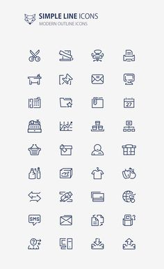 This simple outline icon set. all icons are easily editable. Every single detail in each icon was carefully tuned to present minimalism and elegance.