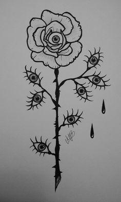 First spooky drawing of the Halloween season 👁️ Psychedelic Drawings, Trippy Drawings, Dark Art Drawings, Pencil Art Drawings, Art Drawings Sketches, Hippie Painting, Trippy Painting, Arte Horror, Horror Art