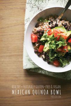 Mexican Quinoa Bowl | Pure Ella #glutenfree #vegan