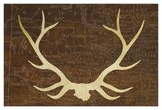 One Kings Lane - Art for the Cozy Cabin - Stag Antlers I
