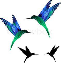 Black hummingbirds.
