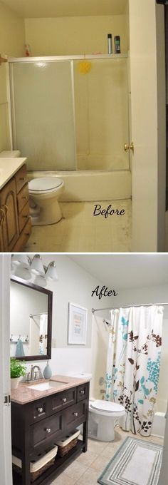 before and after 20 awesome bathroom makeovers diy bathroom remodelbathroom
