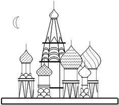 Parametric Plots: A Creative Outlet - Examples of Student Work St Basils Cathedral, St Basil's, Creative Outlet, Miyazaki, Firebird, Student Work, Line Drawing, Gd, Moscow